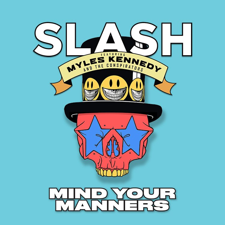 "Listen to Slash ft. Myles Kennedy & The Conspirators' new song, ""Mind Your Manners"", off their upcoming album, Living The Dream, now!  https://t.co/joIfnTFTLR#slashnews"