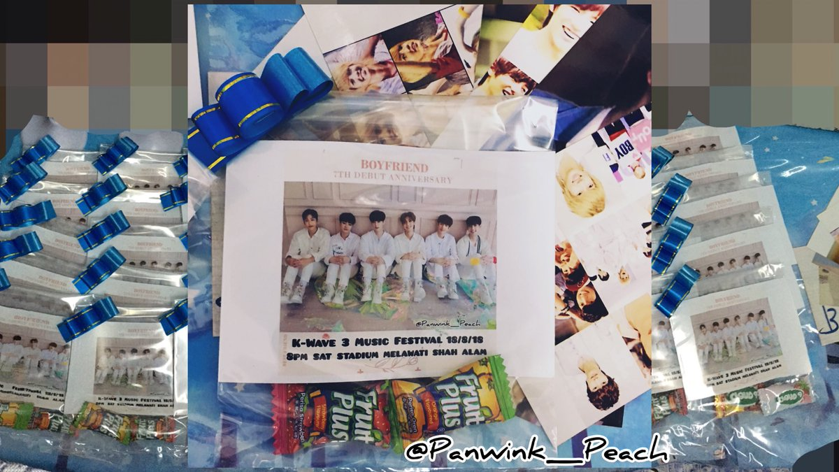 """'(HELP RT) Boyfriend Freebies  Hello Bestfriend! small fansupport TIME&amp;PLACE will update on D-Day, see y'all there  *Ticket check *Follow Me&amp;Retweet this *1 Tic 1 Gift, NO taking for other """"Random few people"""" get other gift  #KWAVE3MusicFestival #Boyfriend #보이프렌드<br>http://pic.twitter.com/ujnTpKJtow"""