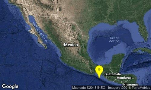 test Twitter Media - SISMO Magnitud 4.1 Loc  157 km al SUROESTE de PIJIJIAPAN, CHIS 17/08/18 01:14:11 Lat 14.67 Lon -94.23 Pf 20 km https://t.co/a9tWR87dYI