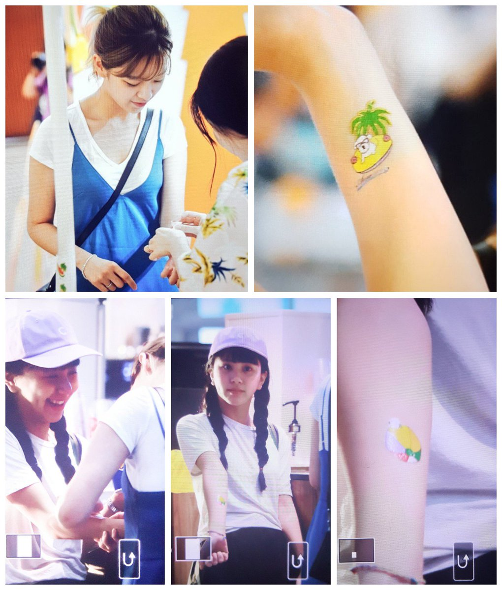 Jeong gets a temp tattoo and shares one together with Chaeng <br>http://pic.twitter.com/XzfHSoprp5