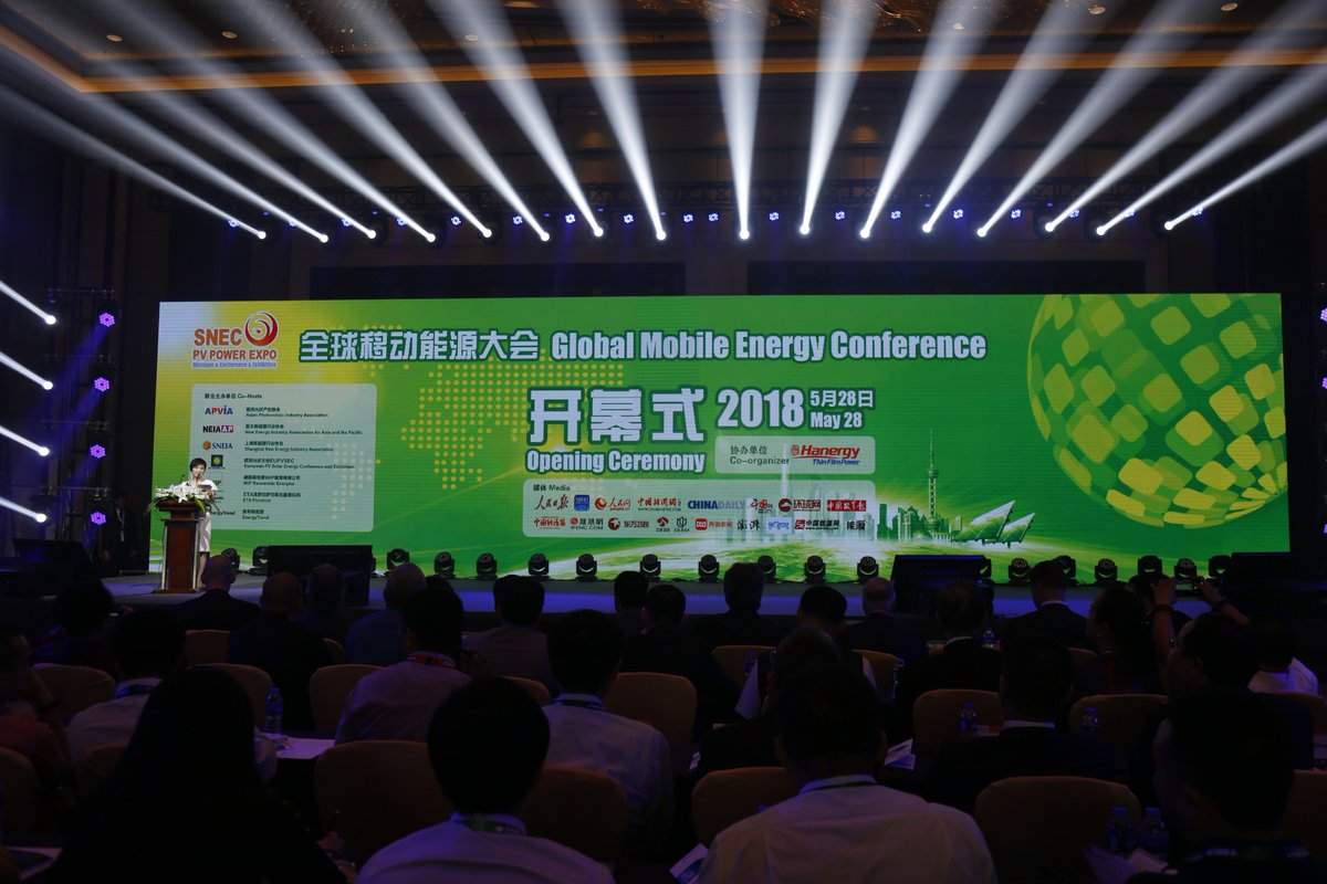 SNEC 2018 Exhibition&Conference  Global Mobile Energy Conference https://t.co/eGLc6vyXda