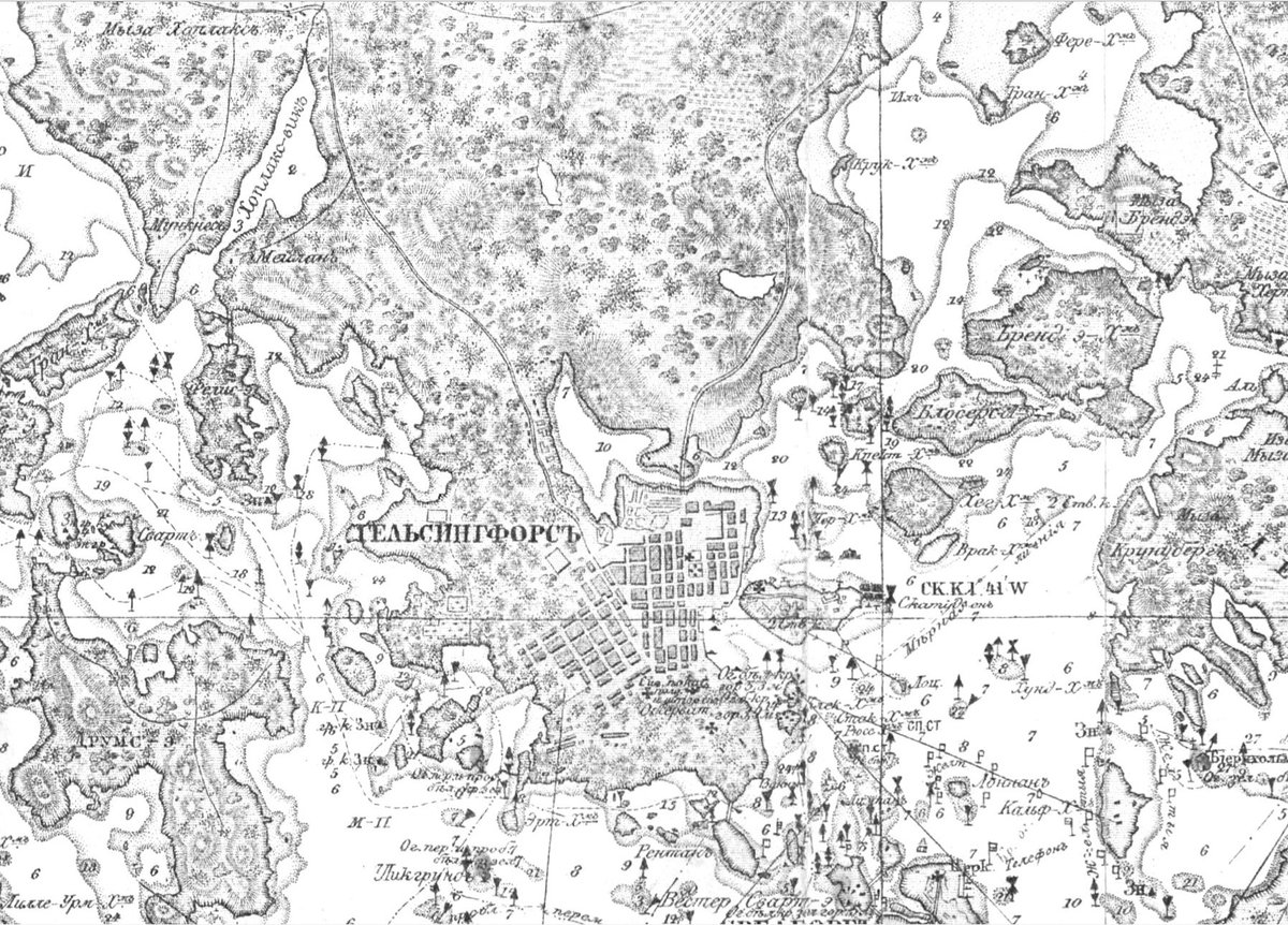 A place called Gelsingfors in 1850. Beautiful cartography.   Full size:  http:// timomeriluoto.kapsi.fi/KARTAT/Vesist% C3%B6kartat/Helsingin%20edusta%201850%20%281908%29.jpg &nbsp; … <br>http://pic.twitter.com/eMKsDPV2Gr