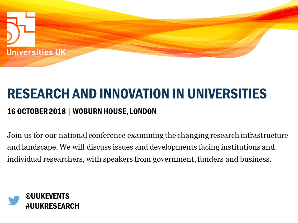 With #REF2021 nearing closer, it is a significant time for #researchers at UK #universities. Discuss issues and developments facing institutions and individual researchers at our Research and innovation event &gt;  http:// bit.ly/2OoMrrw  &nbsp;  <br>http://pic.twitter.com/LZwan5QOHi