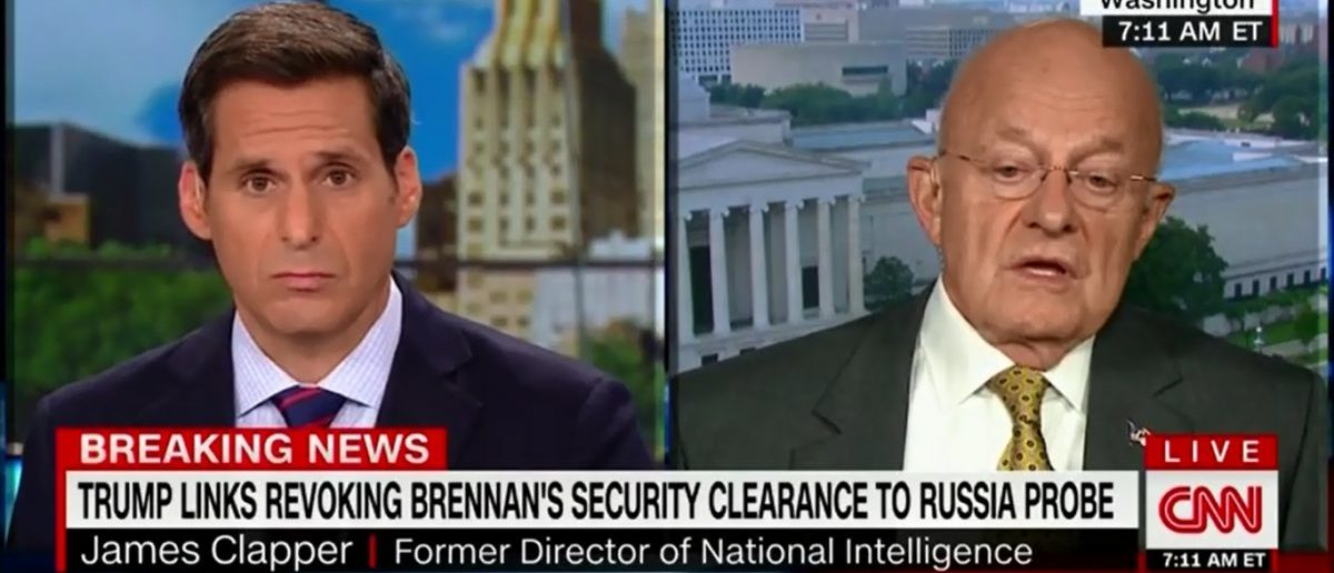 James Clapper Fears For Future Of Intelligence Community After Brennan Has Clearance Revoked https://t.co/udYTgc2YRd https://t.co/2V8sguoxVt
