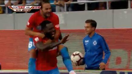 VIDEO #EuropaLeague, delirio dopo il gol della #Steaua al 93\