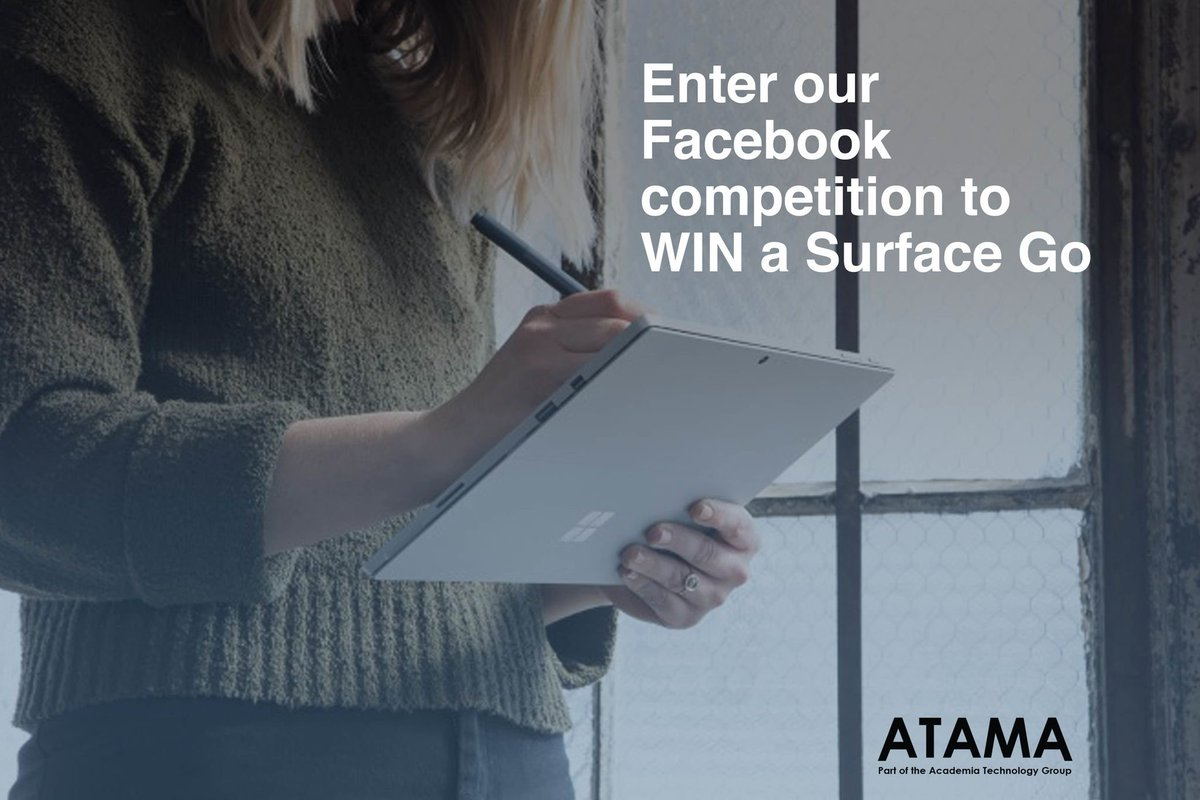 #Win a #Microsoft #SurfaceGo with #ATAMA - Simply #FollowTheA and #like and #Follow our #Facebook page to win in our new #competition:  http:// atama.tech/win-a-microsof t-surface-go/ &nbsp; … <br>http://pic.twitter.com/RrbINwXuid