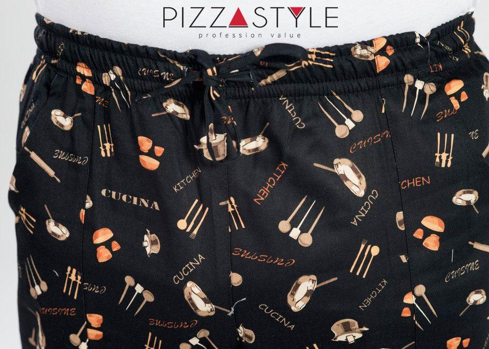 Pantalone Alan, dettaglio stampa.Ordina ora: http://pizza.style/prodotto/pantalone-nero-cucina/#pizzastyle #pizza #pantalone #coulisse #slimfit #dettaglio #qualità #stile  - Ukustom
