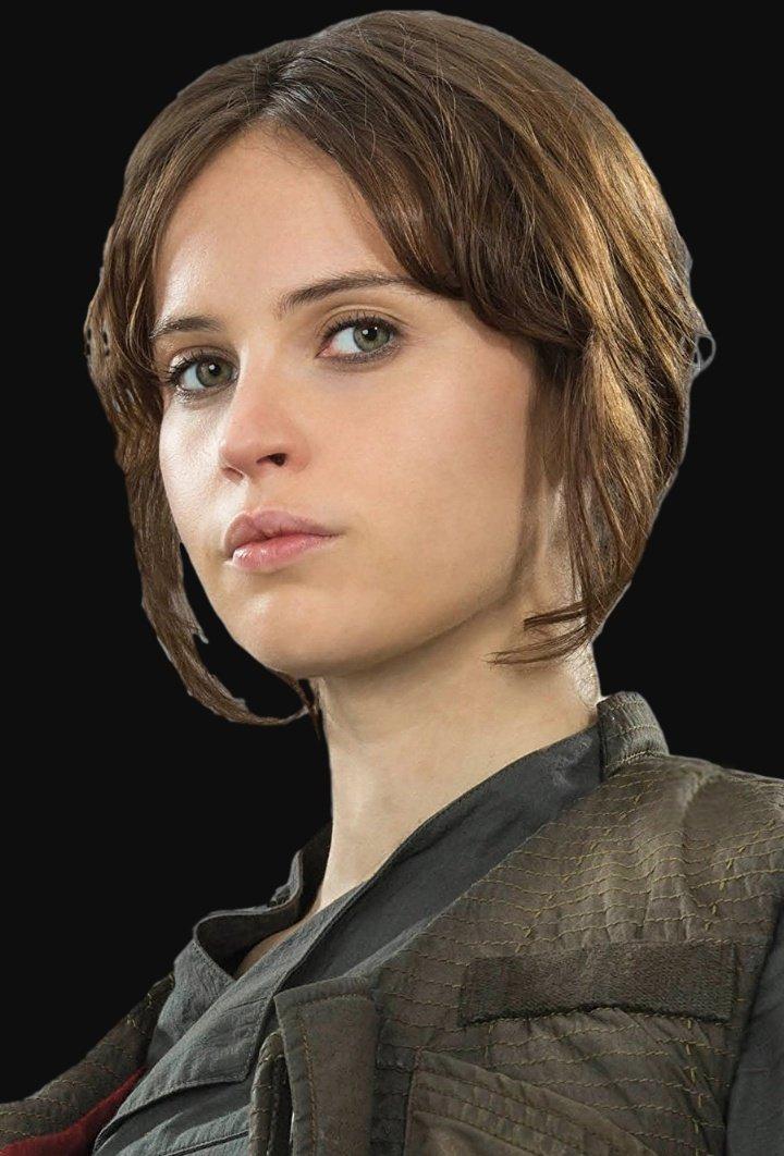 ジン・アーソ デス・スター計画に関与していた科学者ゲイレン・アーソの娘で、反乱同盟軍に大きく貢献した人間女性 帝国に家族を奪われてソウ・ゲレラの元に身を寄せ、ならず者を経て反乱軍に加わった ローグ・ワン分隊と共にスカリフに乗り込み、デス・スターの設計図を奪う