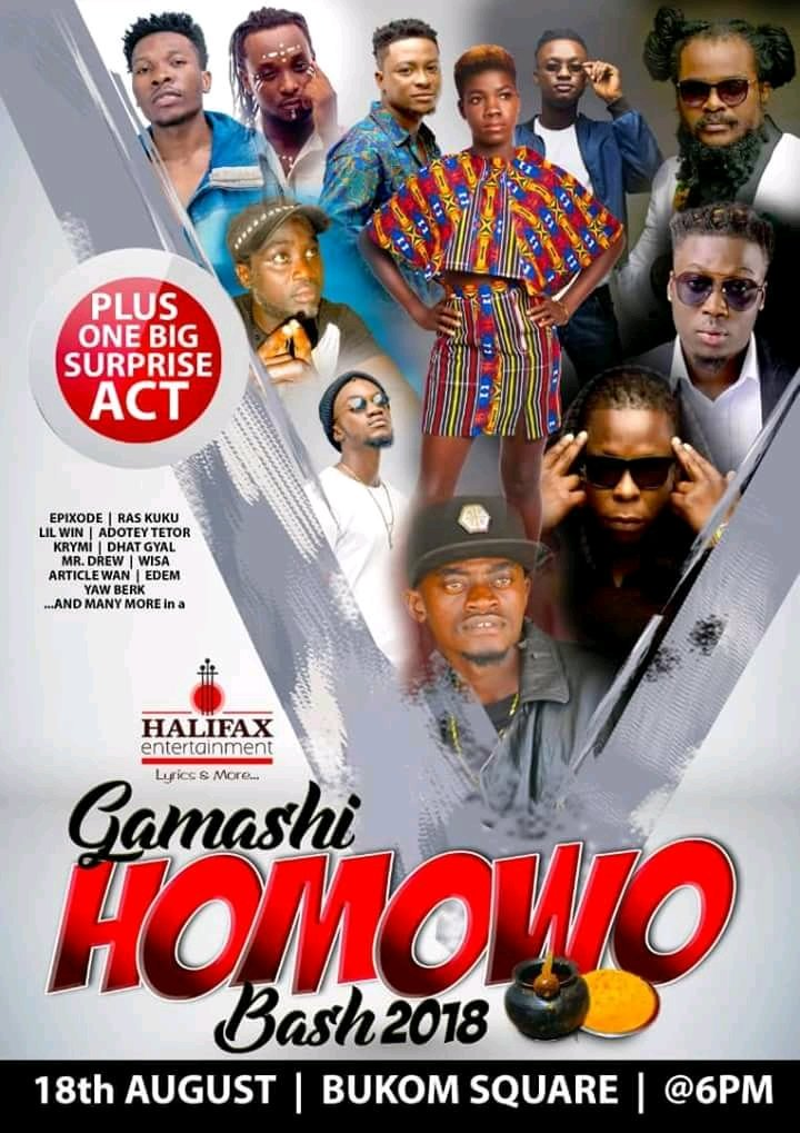DHAT GYAL PERFORMING LIVE ON STAGE TOMORROW@THE BUKOM SQUARE... IT&#39;S NII FUNNY AND FRIEND&#39;S GAMASHI HOMOWO BASH... TOMORROW 18TH AUGUST IS THE MARK DATE...ABAAFEEGBEYEE W)<br>http://pic.twitter.com/TVHkyZlzvx