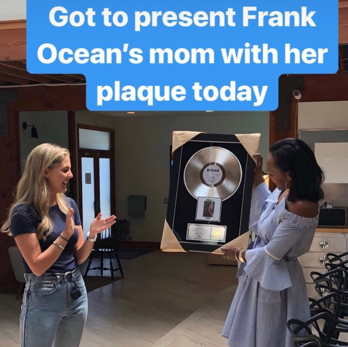 Yesterday @katonya accepted the platinum record for Blonde on behalf of her son at @stem. Congrats!!!  https://www. instagram.com/p/BmkaxmcFqaw/  &nbsp;  <br>http://pic.twitter.com/eDEkU0i2VR