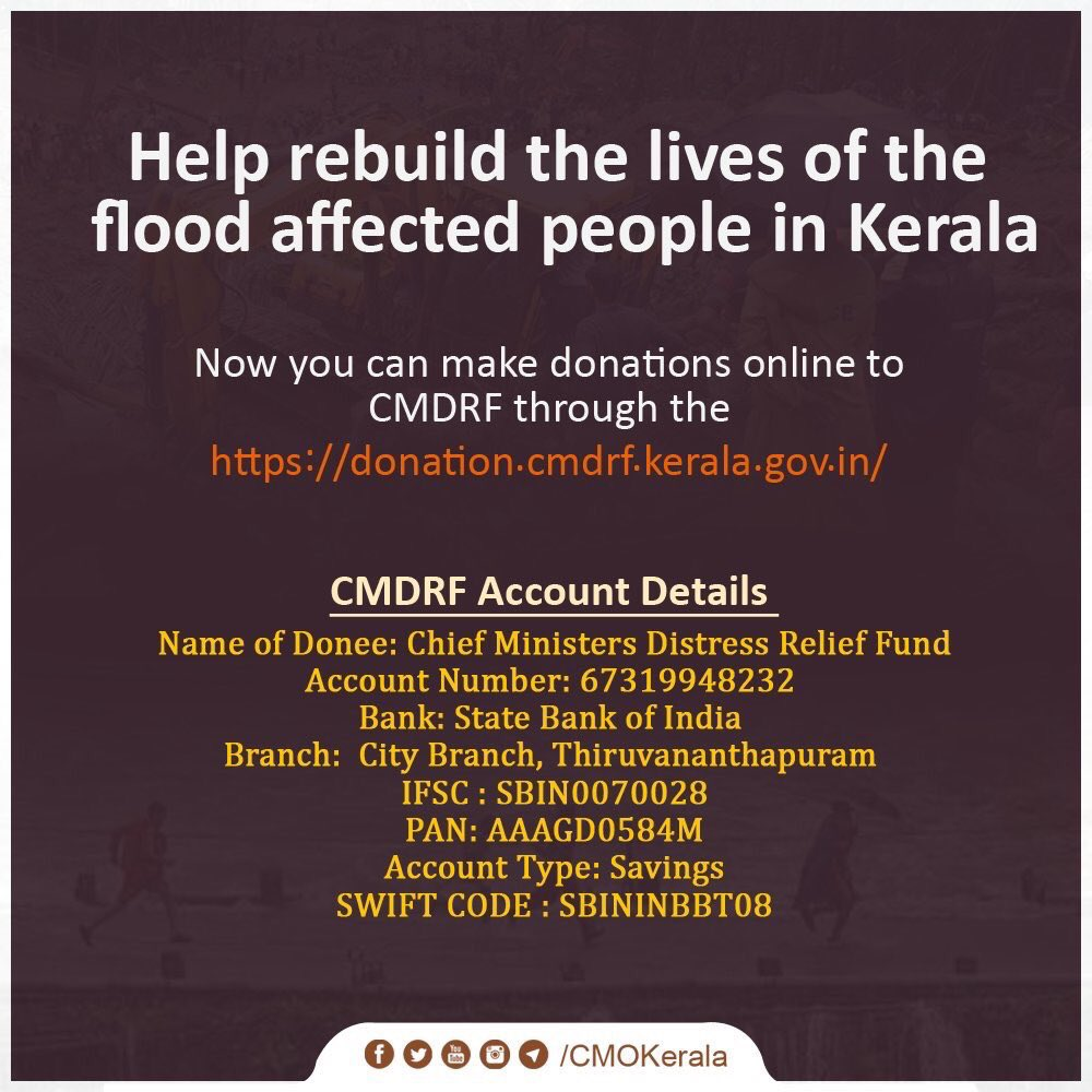 LETS ALL COME TOGETHER AND HELP. This is one way - #cmokerala . Please suggest what else we can do? Just praying is not enough, lets all do something more