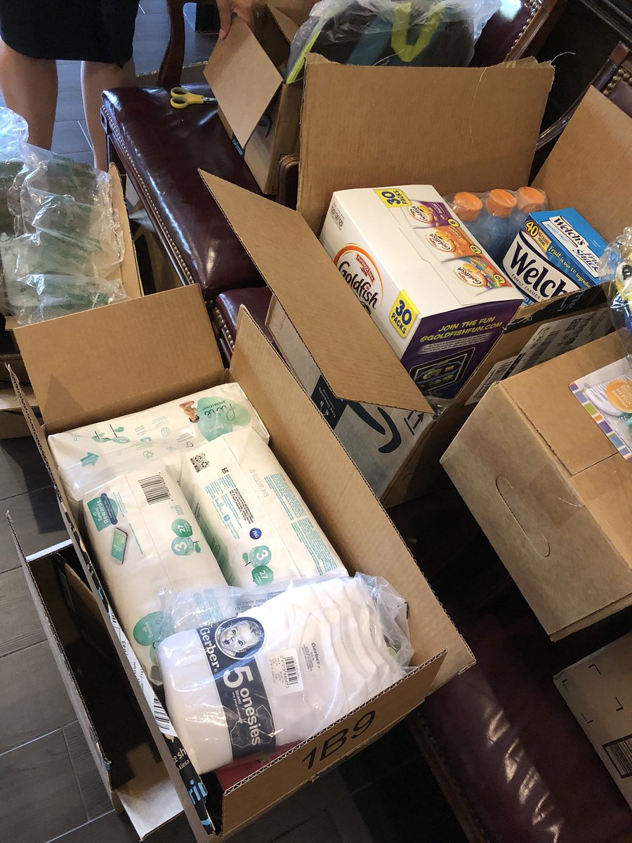 We received packages from people sending care products via @amazon (@GoldfishSmiles @Pampers @GerberLife @Colgate @Welchs)for the refugee families my law firm represents pro bono. It was like a huge LOVE bomb hit the office.Lifted our spirits.Amazing people out there!Tnk U!❤️😇