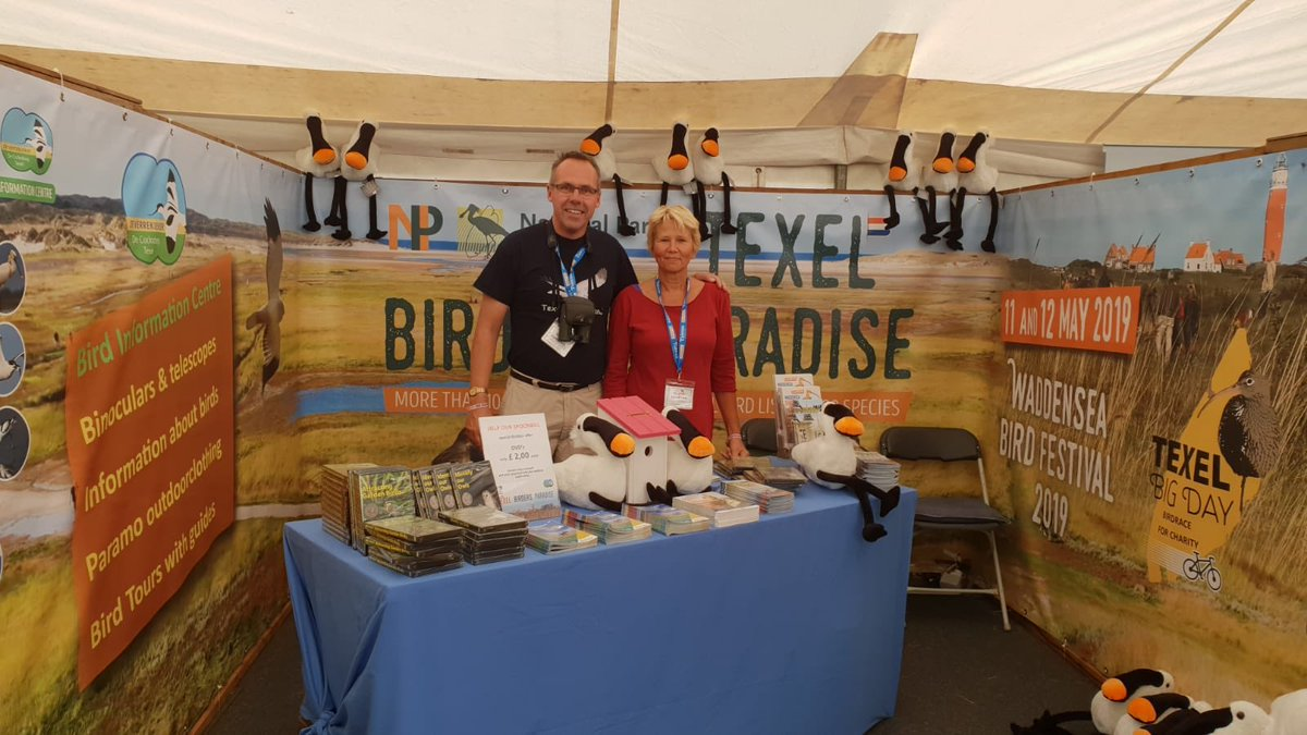 Please visit the stand of the @TexelBigDay @natuurdigitaal and @NPTexel on the @TheBirdfair - stand 4, marquee 2.  Want to see 150+ species on 1 day by #ebike on Texel? This is your chance!  May 11th 2019 15+ teams will be racing for conservation! #texelbigday2019  #texel #birds<br>http://pic.twitter.com/nQ1IpDV8Bu