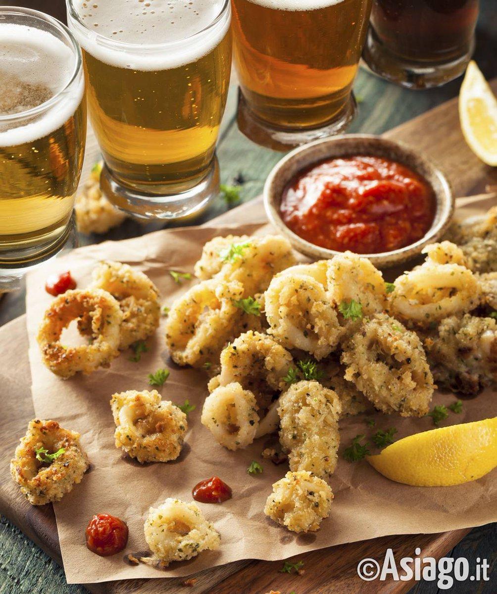 Una bella #frittura di #pesce, accompagnata da una bella #birra fresca ... Viene anche a voi l\