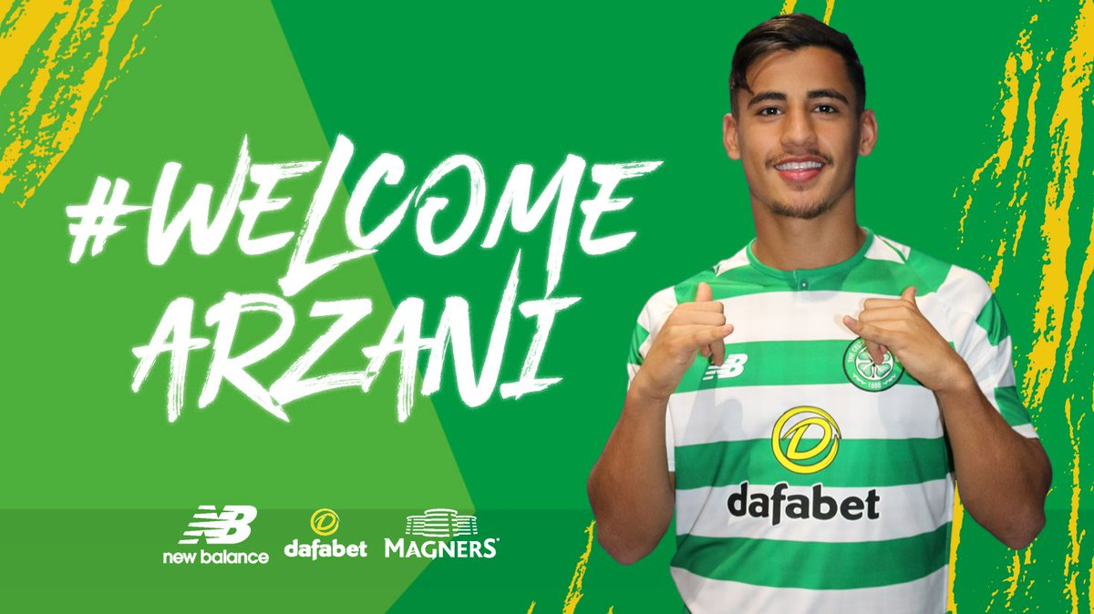 ✍️ We are delighted to announce that Daniel Arzani has signed for #CelticFC from @ManCity on a two-year loan deal. #WelcomeArzani  ➡️ https://t.co/80gA0dd6LV