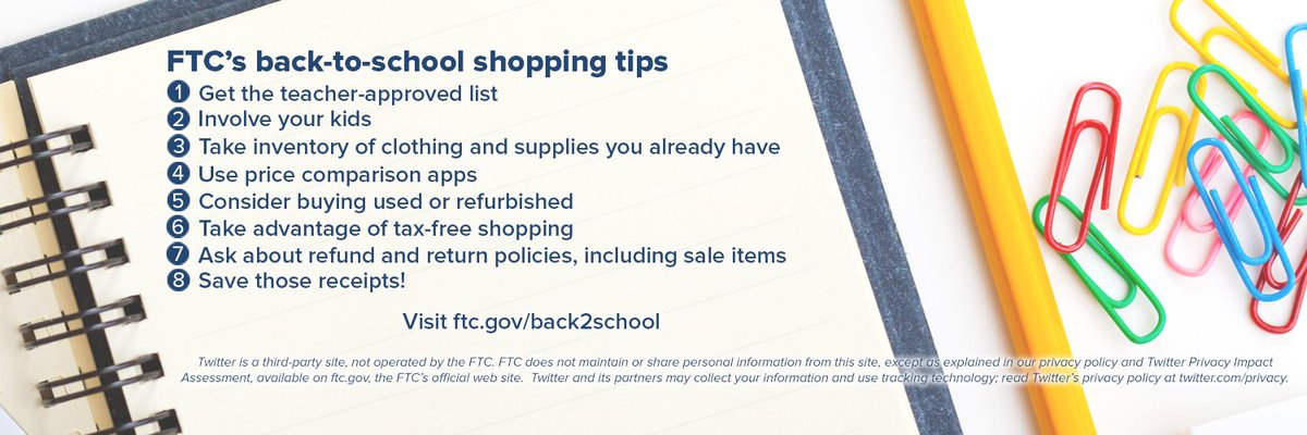 54595ab9cbb62 As summer winds down, it's time for back-to-school shopping. Here are some  tips to help you save time and money: https://go.usa.gov/xUeCd ...