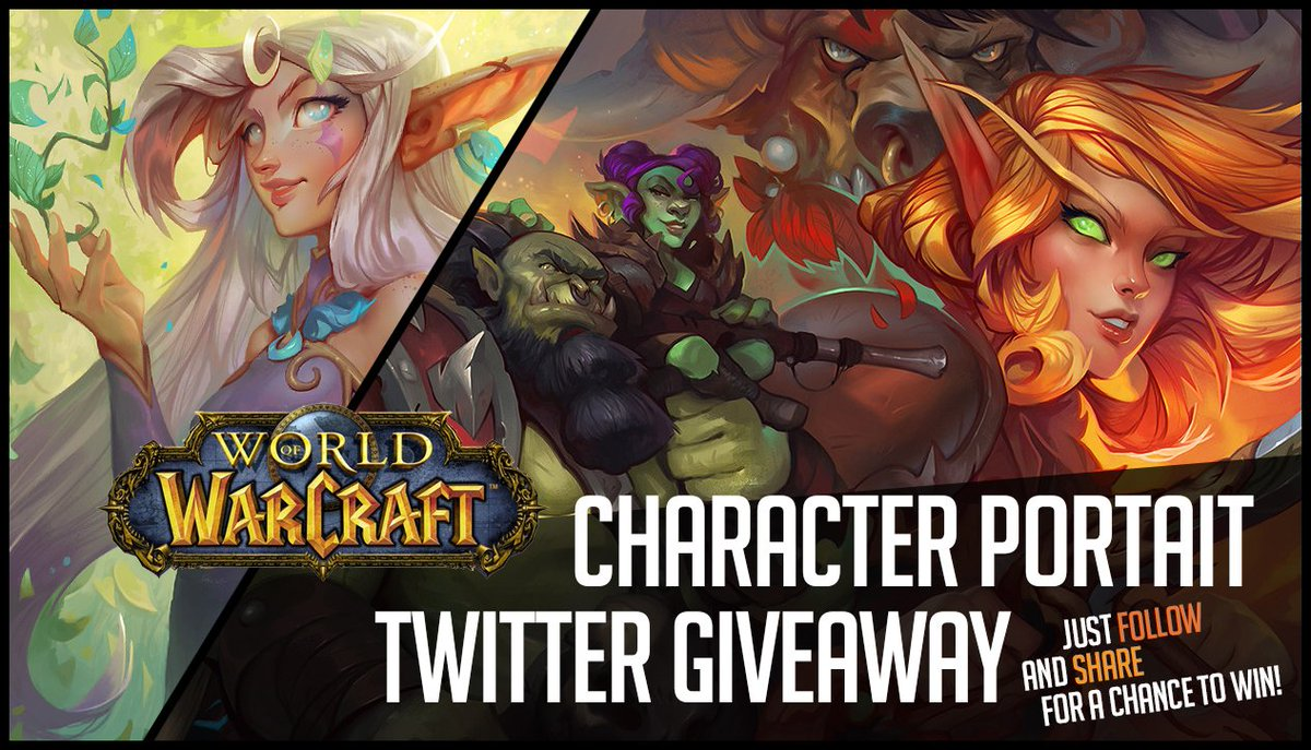 Morning! Based off alot of PM&#39;s about these, I wanted to raffle something like this off! One full portrait painting of your wow character! Painted live on stream. Just follow and Share to enter! Ends Sunday night at 8 cst! <br>http://pic.twitter.com/Be5fnsxsoZ
