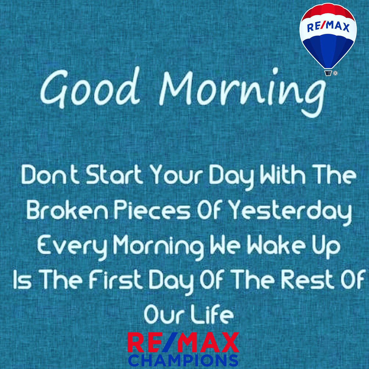 """James Muhammad-RE/MAX Vision on Twitter: """"Yesterday is behind us.. Focus on today and the future 😎 #goodmorning #tgif #friday #past #present #future # change #makeadifference #growth #remaxchampions #remax #remaxhustle #focus #mindset #haveagreatday ..."""