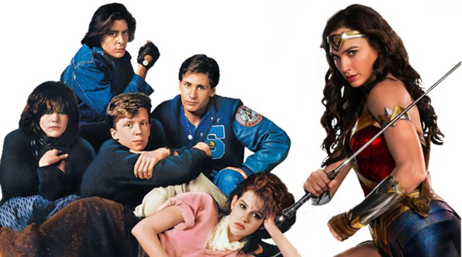The WONDER WOMAN 1984 cast poses for this BREAKFAST CLUB throwback PHOTO! comicbook.com/dc/2018/08/17/…