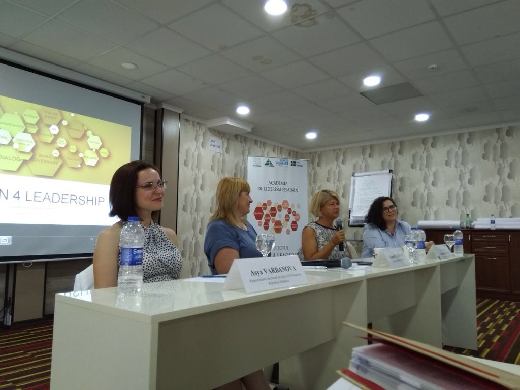 Talking abt #womeninleadership, choices, work life balance #genderequality w/ women aspiring for political office in #Moldova w/ @ValeriaBiagiott @PalihoviciLil<br>http://pic.twitter.com/NPJ2WJjgu7