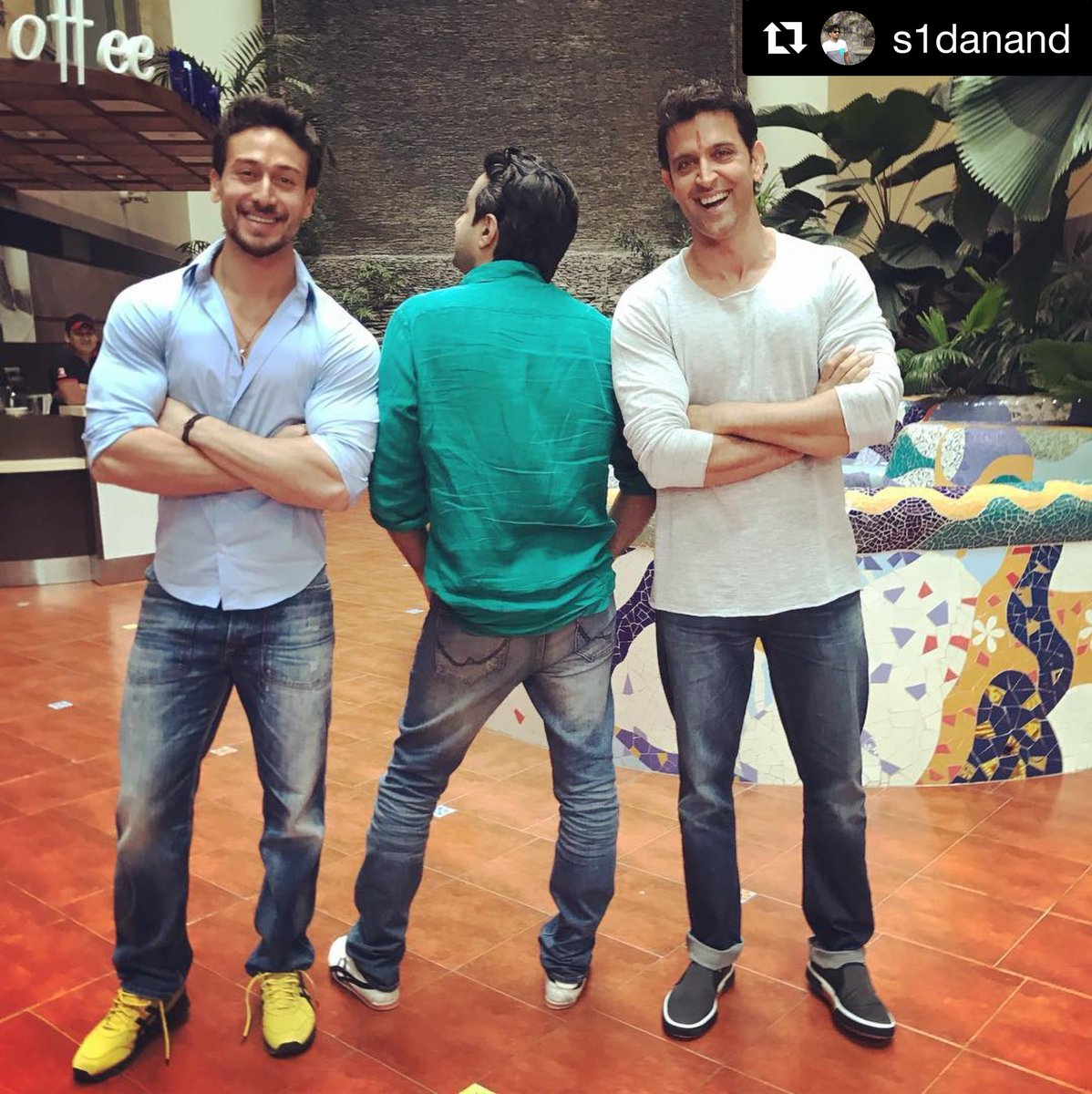 And people thought it was a 2 hero film. Journey begins #HrithikvsTiger @iTIGERSHROFF #sidanand