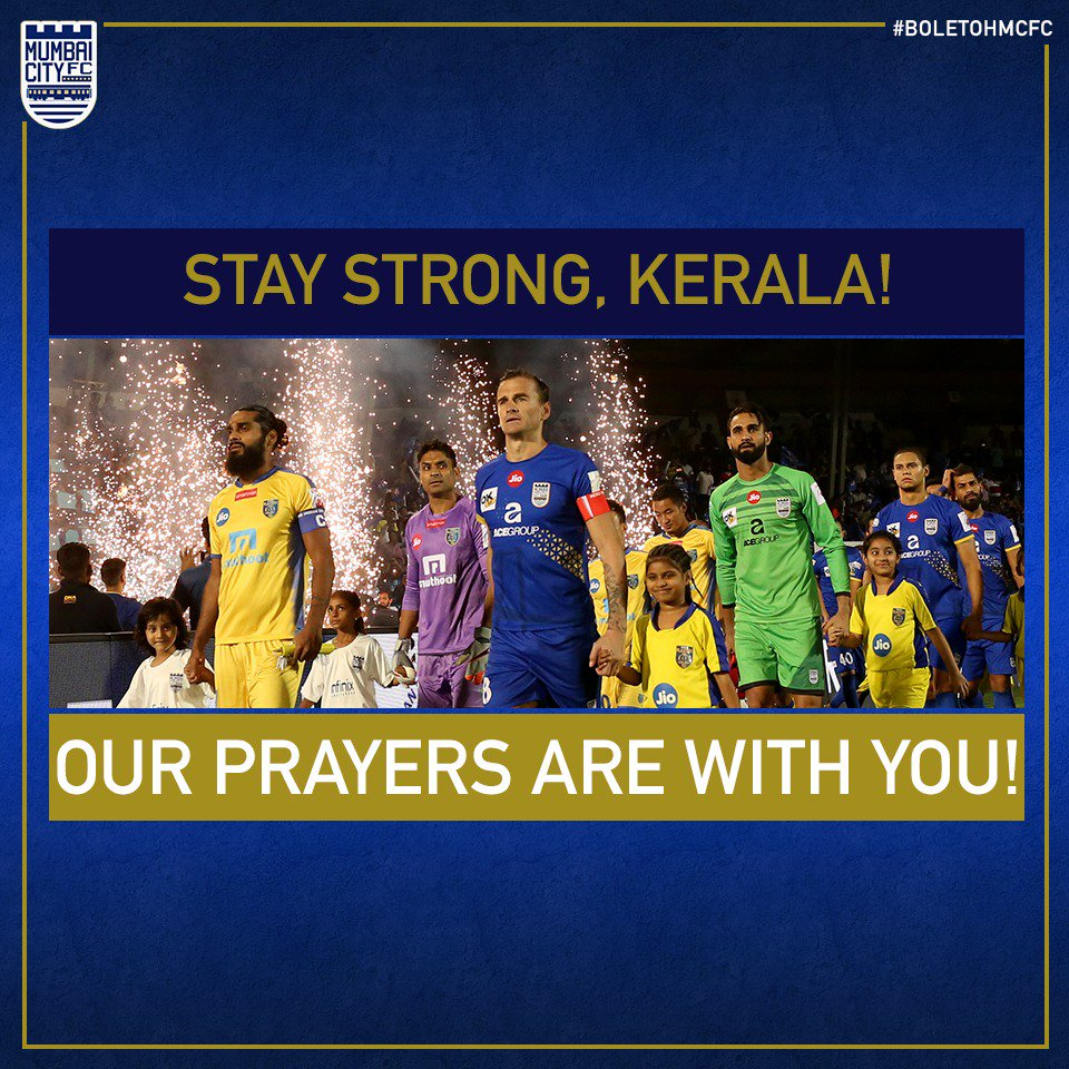 We would like to express our solidarity towards the people of Kerala. Stay safe, our prayers and thoughts are with you. To make donations towards the Govt of Keralas Chief Minister Distress Relief Fund, follow this link: donation.cmdrf.kerala.gov.in #KeralaFloods @KeralaBlasters