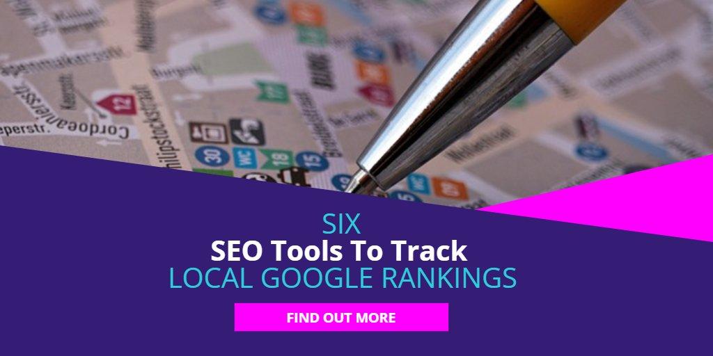 6 SEO tools to track local google rankings  https:// ift.tt/2mDGP0H  &nbsp;   #seo #localseo #googlerankings #seotools<br>http://pic.twitter.com/xbrws7HeRf