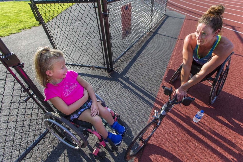 Sharing goals and dreams.....      5x #BostonMarathon champ @TatyanaMcFadden leads the way for aspiring athletes  https:// wbur.fm/2nIhm6R  &nbsp;   via @WBUR &amp; @ShiraSpringer<br>http://pic.twitter.com/aWCe5ybPhB