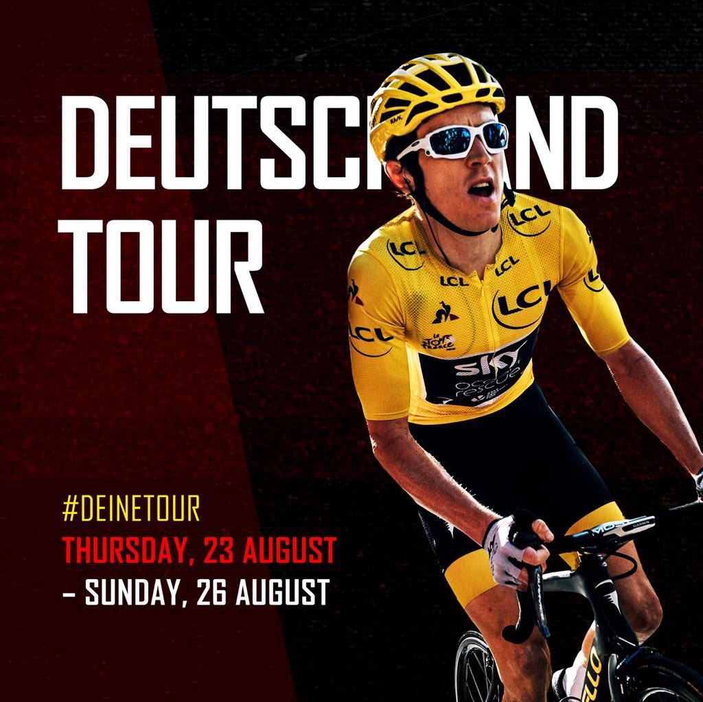Looking forward to @TourofBritain 🇬🇧 but first... #deinetour 🇩🇪 #schnitzel