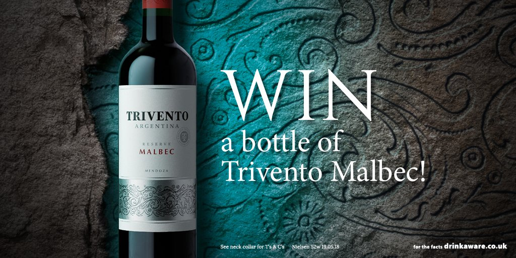 #WIN a bottle of Trivento Malbec, the official wine of BBQ  Just FOLLOW+RT to enter!   Win 1 of 6 ultimate adventures worth £1000 and 100s of firepit prizes instantly with purchases of selected bottles of Trivento in store!  Closes 23rd August, T&amp;Cs:  http:// bit.ly/2L1meNr  &nbsp;  <br>http://pic.twitter.com/cCEUwi9G0w