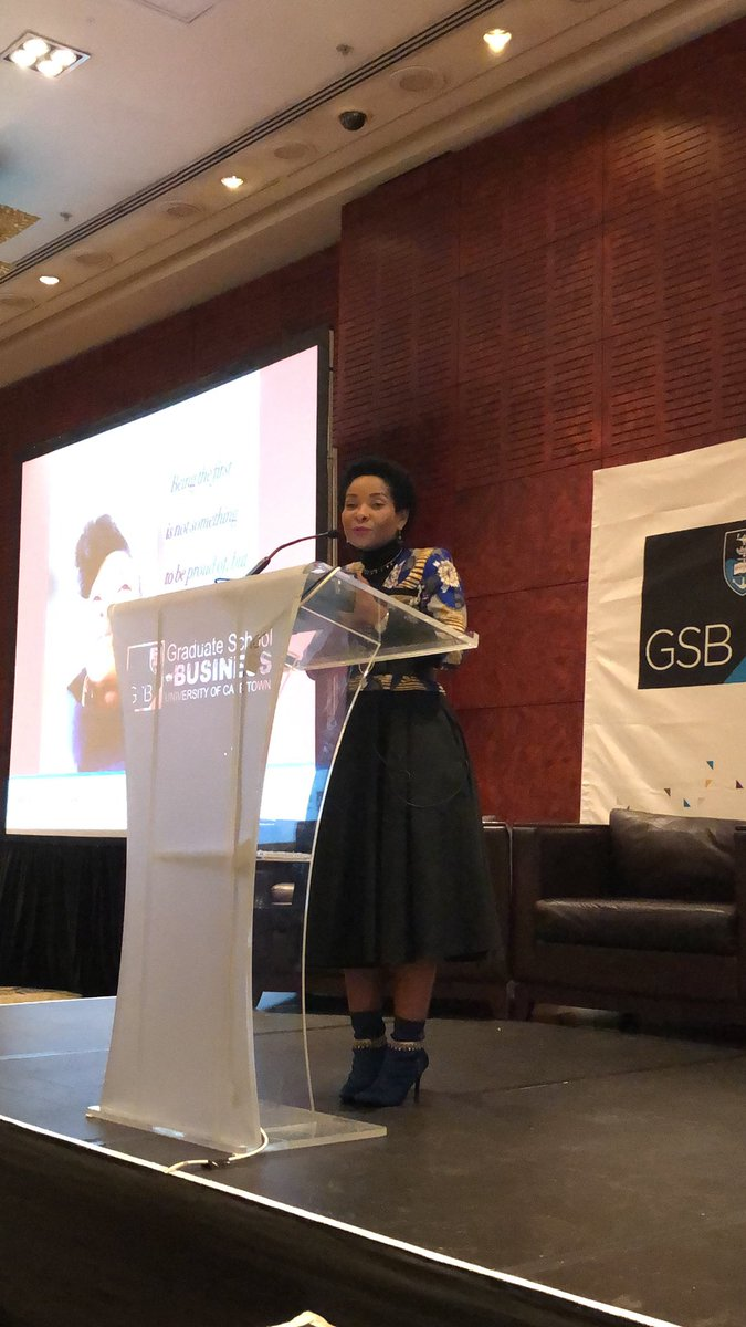 """""""Changemakers take on the responsibility to do things. They don't hand over the responsibility to others when they see what has to be done. They make things happen"""" - @FabAcademic @UCT_news #GSBWiB18<br>http://pic.twitter.com/AeYQbrtx31"""