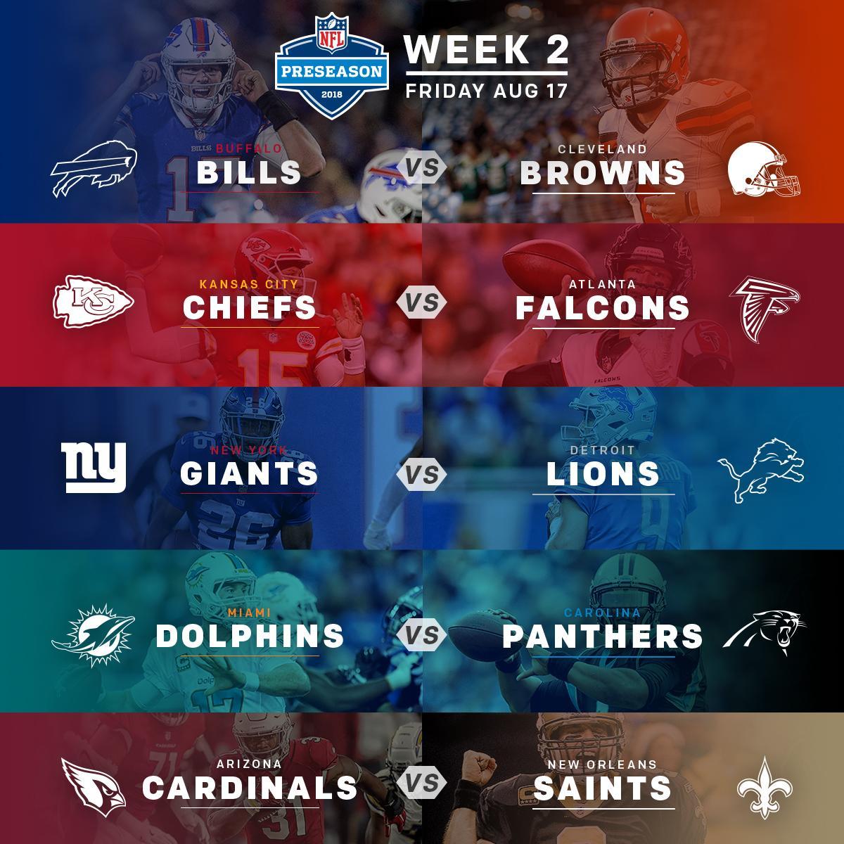 #NFLPreseason Week 2 continues tonight!  <br>http://pic.twitter.com/jsOhSGQREF