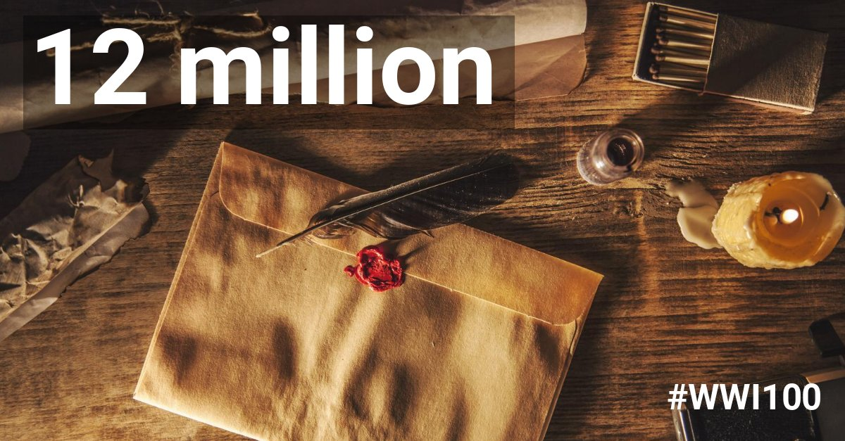 Did you know... during the First World War, around 12 million letters were delivered to the front every WEEK!?   #RoyalBritishLegion @PoppyLegion #ThankYou100 #WWI100 #FridayFact #LettersFromHome #WorldWarOne #MilitaryFacts<br>http://pic.twitter.com/OBpY7hFZB4
