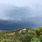 Image for the Tweet beginning: Tempesta a l'Empordà des del