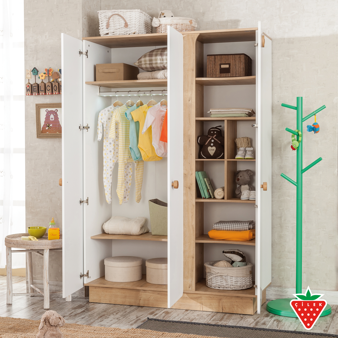 You can easily organize your baby's clothes with Natura Baby 3 Door Wardrobe. #cilekroom #babyroom #NaturaBaby   https://t.co/ZBe3uabRXy https://t.co/kmfoBt1gLk