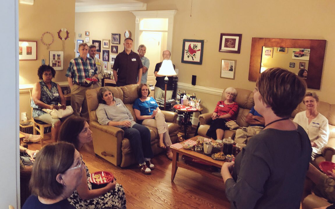 This is what campaigning is all about.  Meeting voters at homes all around District 36, hearing their concerns &amp; answering questions about how I can best represent them in the #NCGA. I want to be a representative who has her door open, ready to listen &amp; ready to serve. #FlipThe36<br>http://pic.twitter.com/rStillVz1U