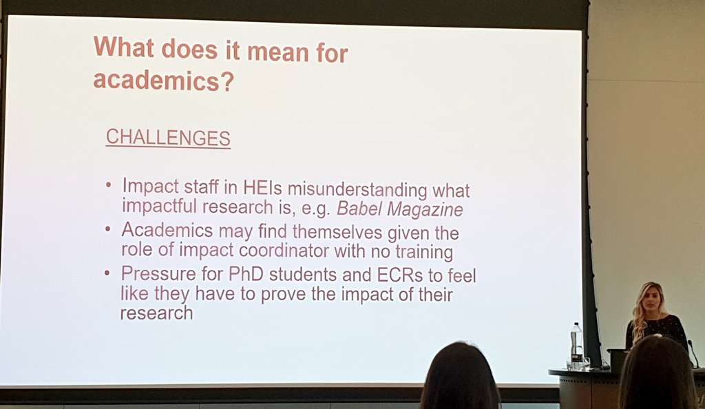 The challenges of the #REF2021 #impact agenda for academics (I couldn&#39;t possibly comment on point.1 ) @HazelLinguist #impactinlx<br>http://pic.twitter.com/5P1pOvy6VW