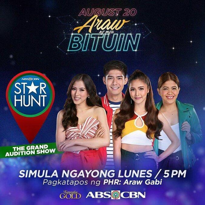 #StarHunt: The Grand Auditon Show | Hosted by Kim Chiu, Alex Gonzaga, Robi Domingo and Melai Cantiveros <br>http://pic.twitter.com/RAfsyqMjYj