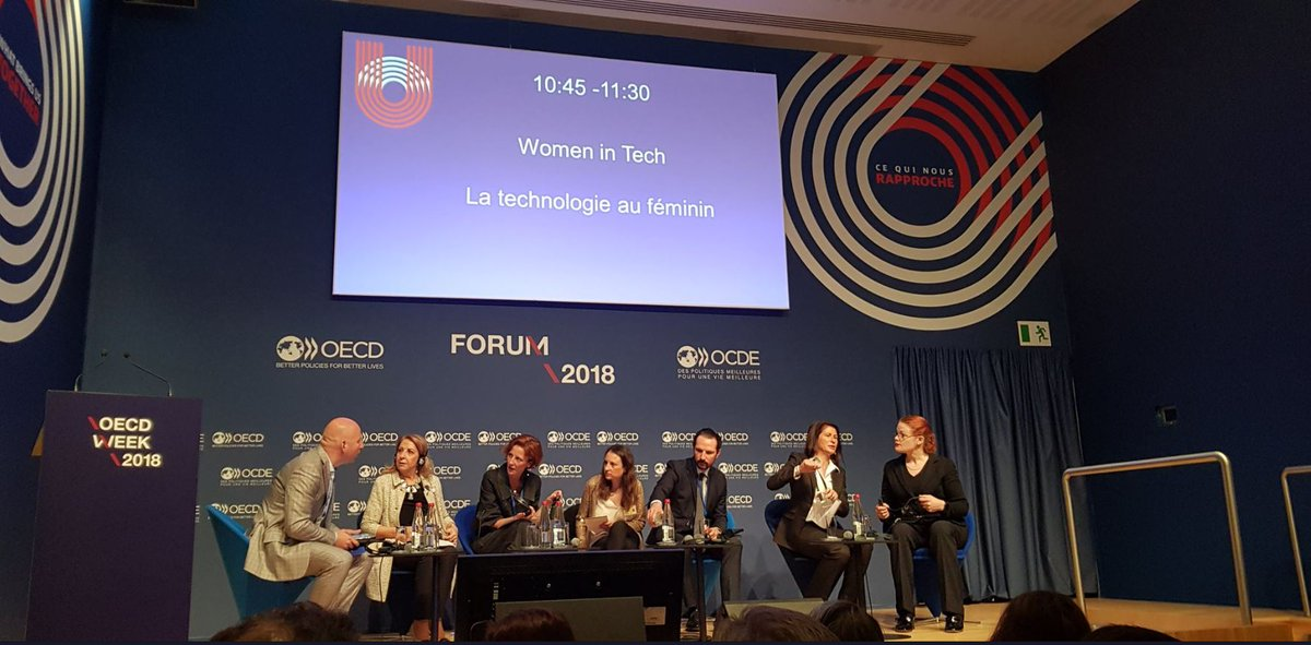 Watch our #OECDForum session on #WomenInTech, which explored how supporting #WomenEntrepreneurship &amp; women's leadership in #tech translates into more than just gains for #GenderEquality   http:// oe.cd/2ke  &nbsp;    See more on #WomeninSTEM   http:// oe.cd/2kL  &nbsp;    #EQUALSinTech<br>http://pic.twitter.com/gbkOdxRgT6