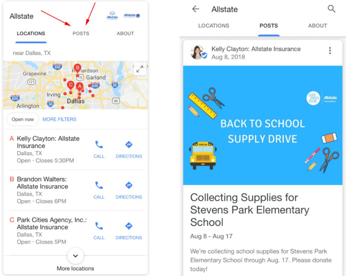 In local search news, Google has started showing Posts in the Local Maps pack on mobile for some branded queries.  https:// searchengineland.com/google-posts-a dded-to-local-packs-for-some-branded-queries-304031 &nbsp; …  via @sengineland #LocalSEO <br>http://pic.twitter.com/hCZhiXmwxB
