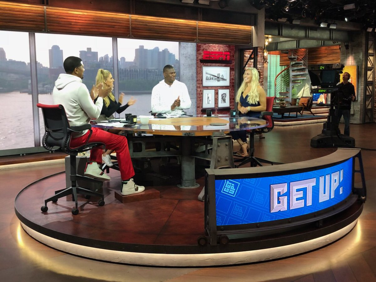 .@GetUpESPN thank you for having me on this morning to talk #SummerSlam it was great meeting you guys! WOOOO!