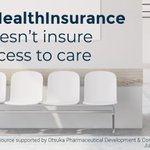 Image for the Tweet beginning: Having #HealthInsurance doesn't insure access