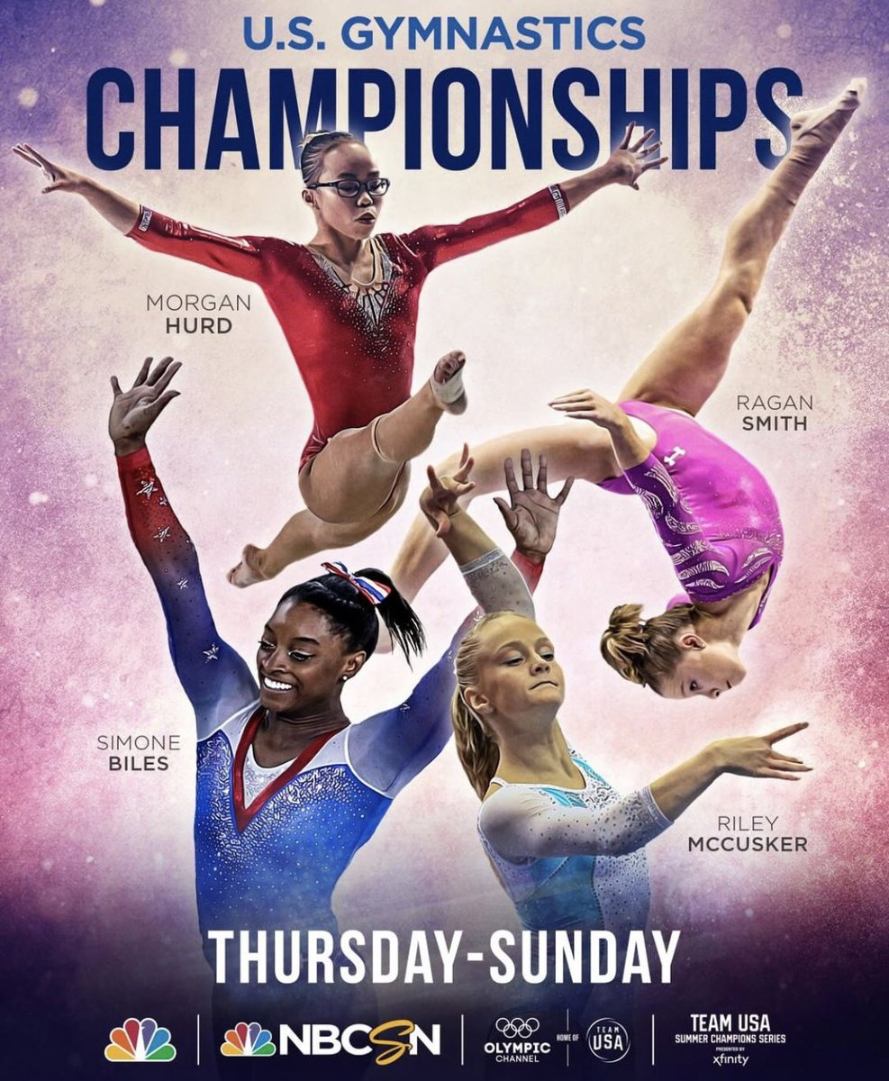 TONIGHT: day one of the women's competition at the #USGymChamps, live on the @olympicchannel at 8pm EST with @terrygannon83 @timdaggettnbc + yours truly 💁🏼♀️