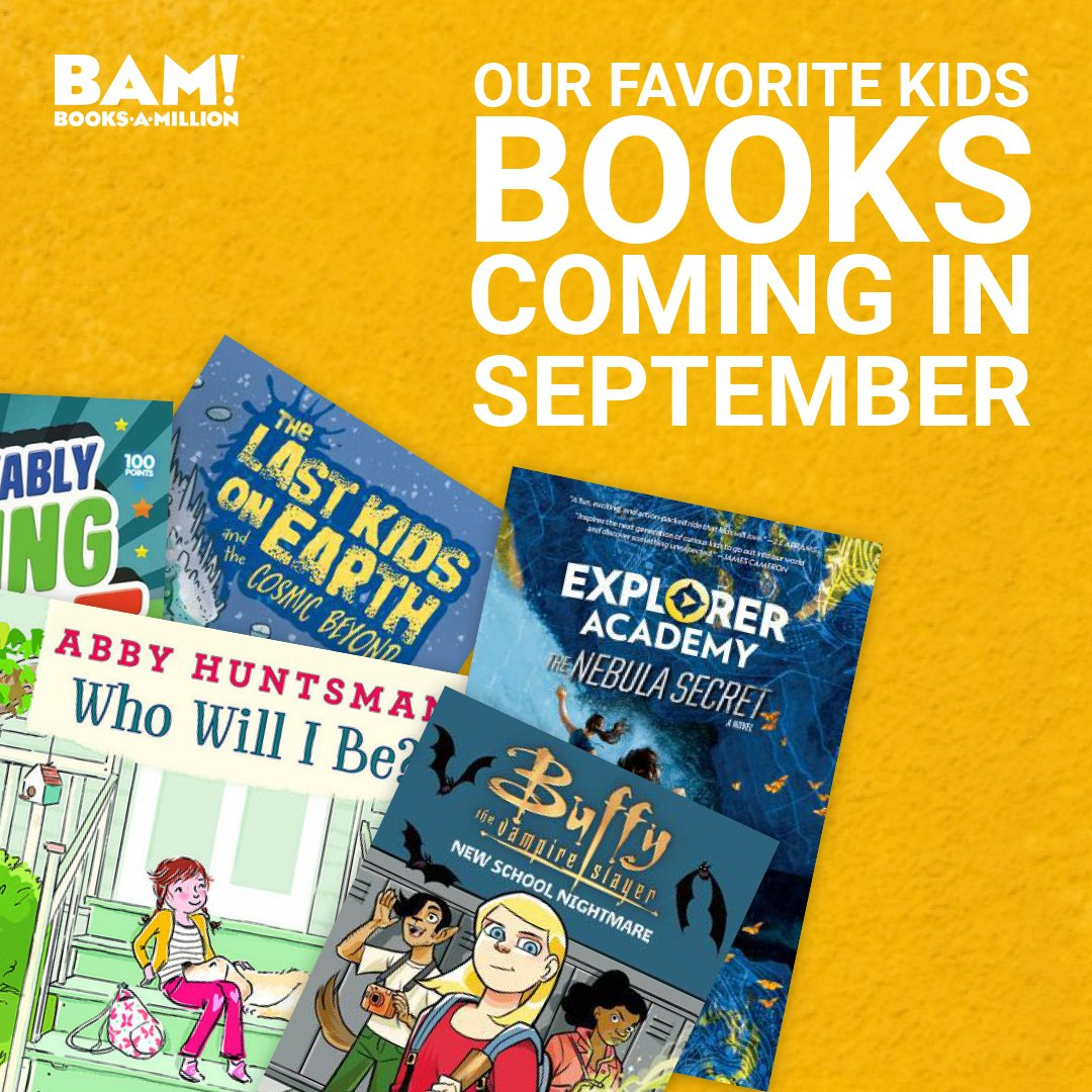 There are so many exciting books coming to #BooksAMillion this fall, what are you most excited to read with your kids? bit.ly/2OzYkuQ