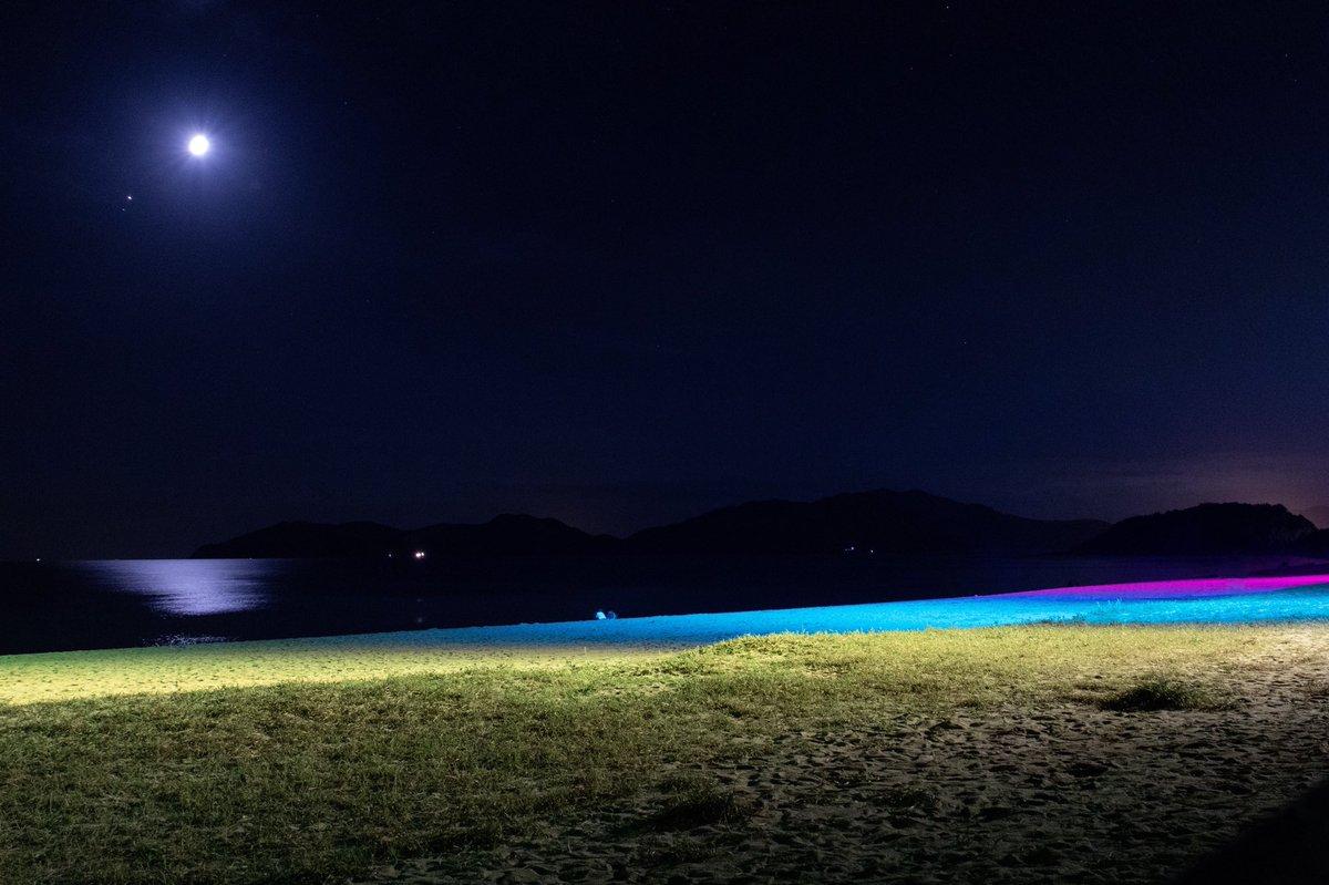 夏はライトアップしてて素敵 @虹ヶ浜海水浴場 https://t.co/lsRFsqZMWM