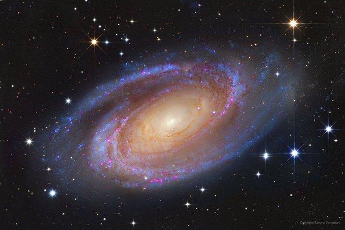 Messier 81 es una bonita galaxia espiral de gran diseño. Se puede observar en la dirección de la constelación de la Osa Mayor. Se la llama así por lo bien definidos que están sus brazos. Está a 11,8 millones de años-luz de la Vía Láctea. #FelizFinde Photo