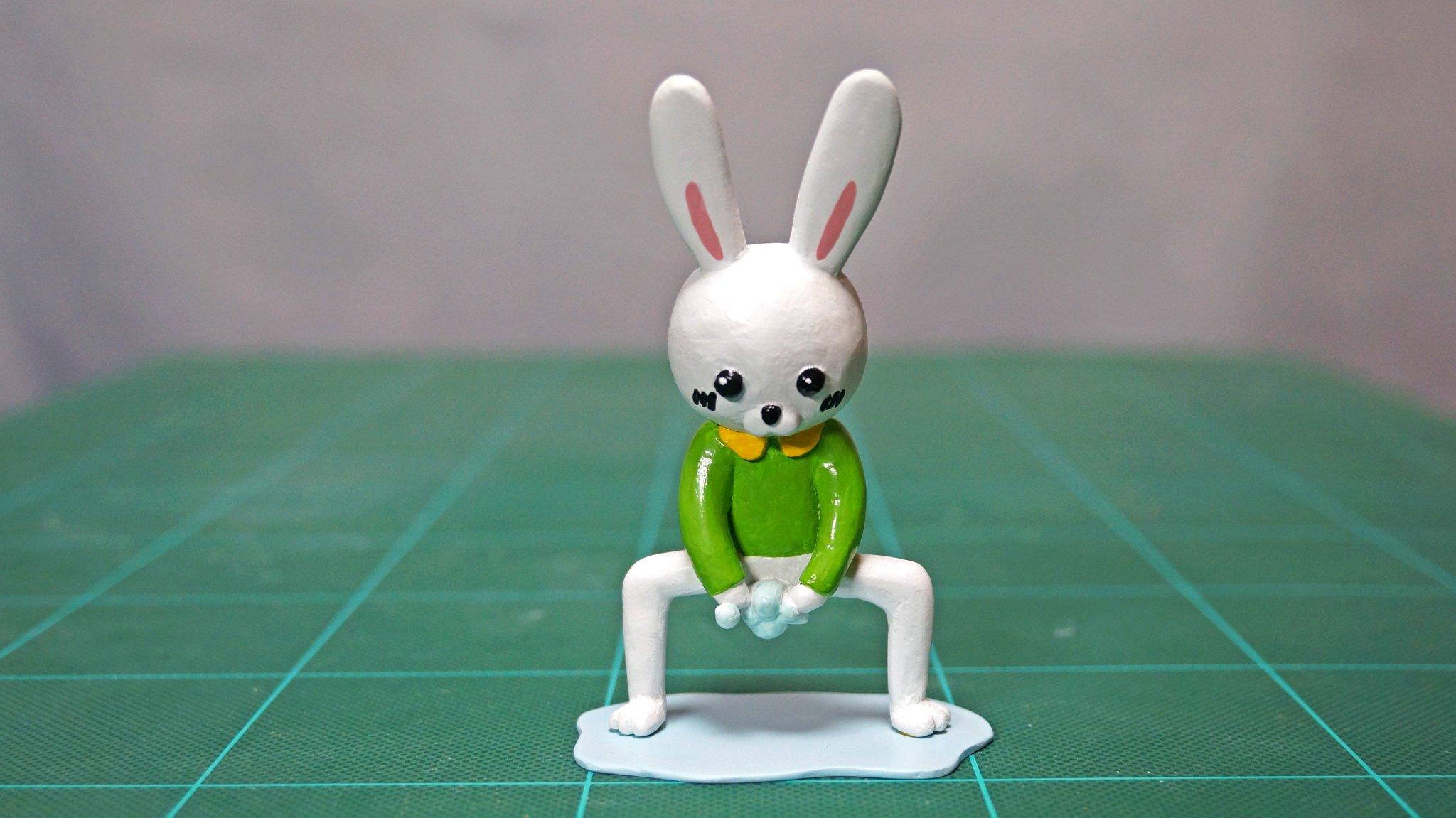 本当に汚れているのは製作者の心w石鹸で手を洗うウサギをフィギュア化した結果www