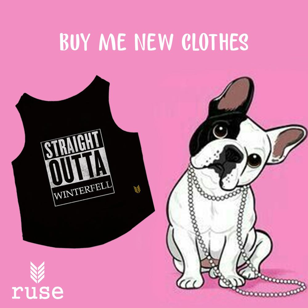 One must follow whatever the pet asks! No questions asked 🤣 .  .  Visit https://t.co/PbKJDgr5z6 for more #dogtees like these!   #ruse #its_a_ruse #ruseclothing #onlineshopping #dogstshirts #dogfashion #summercollection #tshirt #delhi #straightouttawinterfell #got #GameofThrones https://t.co/Ruhn7BE9yZ