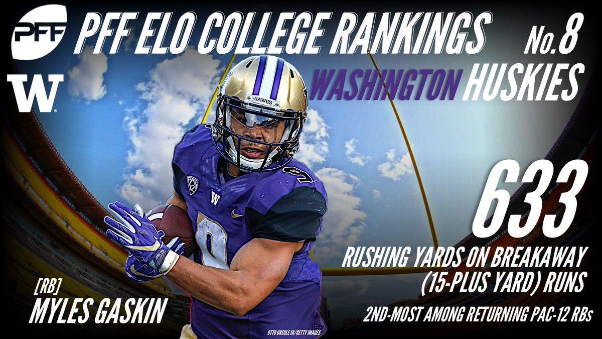 8 days. Just 8 days. No. 8 on the PFF ELO College Power Rankings –the Washington Huskies