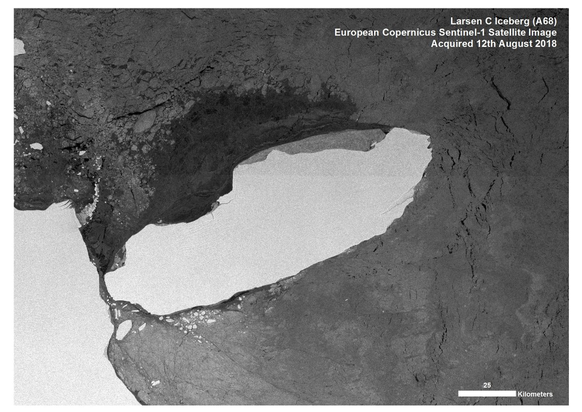 Giant #Antarctic Iceberg #A68 is on the move again! bas.ac.uk/data/our-data/…
